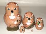 Koalas Russian nesting dolls