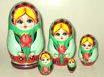 Lady with Iris Russian dolls