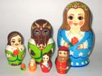 Scarlet Flower Russian dolls