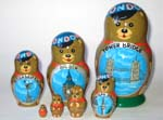 London Bear Russian dolls