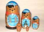 London Bear Russian dolls