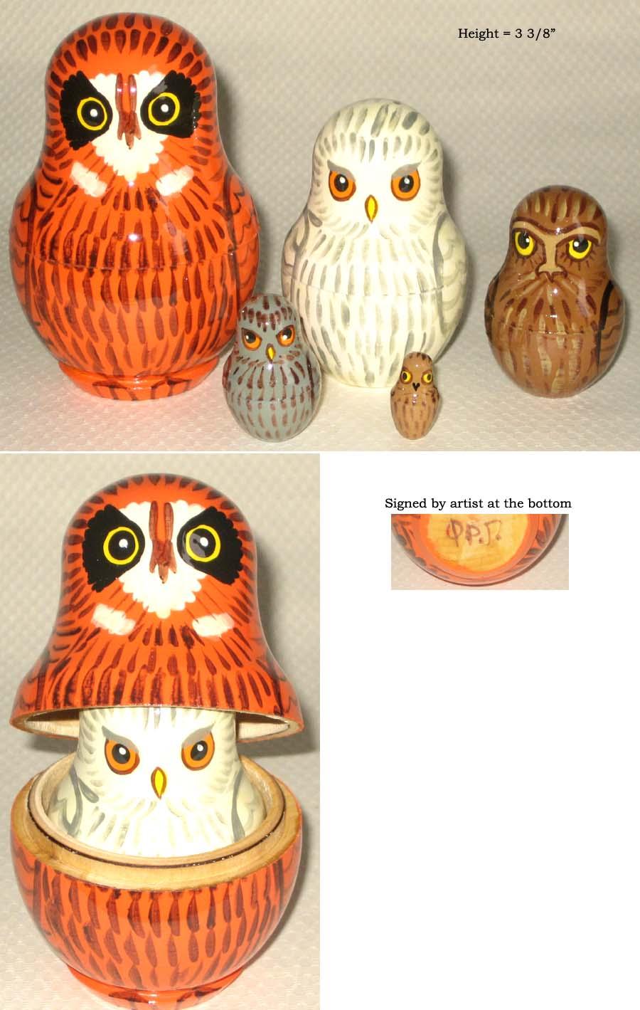 Owl Nesting Dolls Owls Russian Nesting Dolls